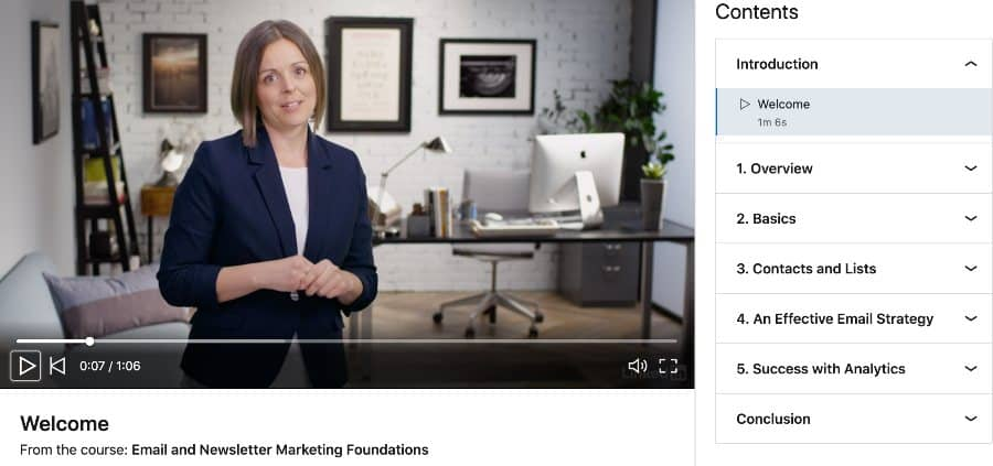 Email and Newsletter Marketing Foundations (LinkedIn Learning)