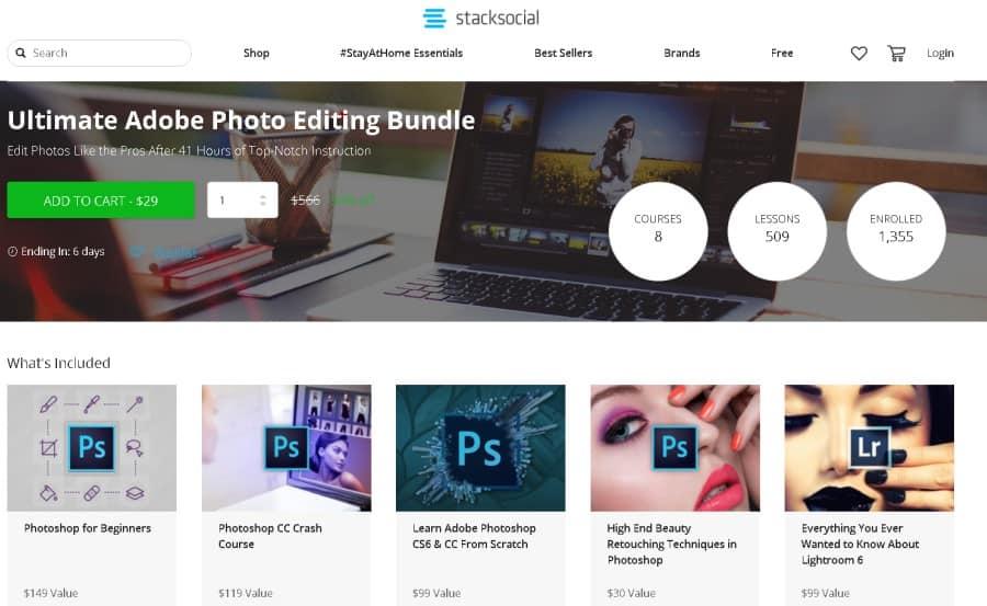 Ultimate Adobe Photoshop Editing Bundle (Stacksocial)