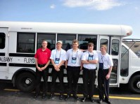 The internetworking contestants from Prosser Career Education Center and their instructor take a group picture before the Closing Ceremony at Nationals. Left to right: Mark Robinson (instructor), Mackenzie Stephens (postsecondary), Braden Mitchell (secondary), Jason Gallavin (secondary), Aaron Ogle (secondary)