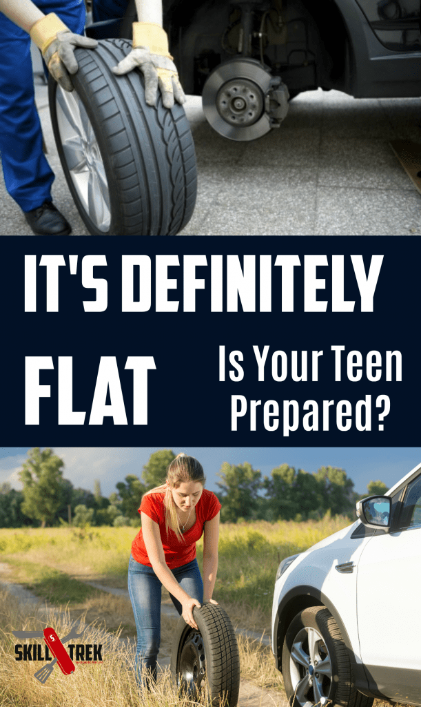 Your young driver, and her sibling suddenly have to deal with a flat tire. Are they prepared to face this challenge? Life skills like changing a flat tire are important to teach. Here's how to get started!