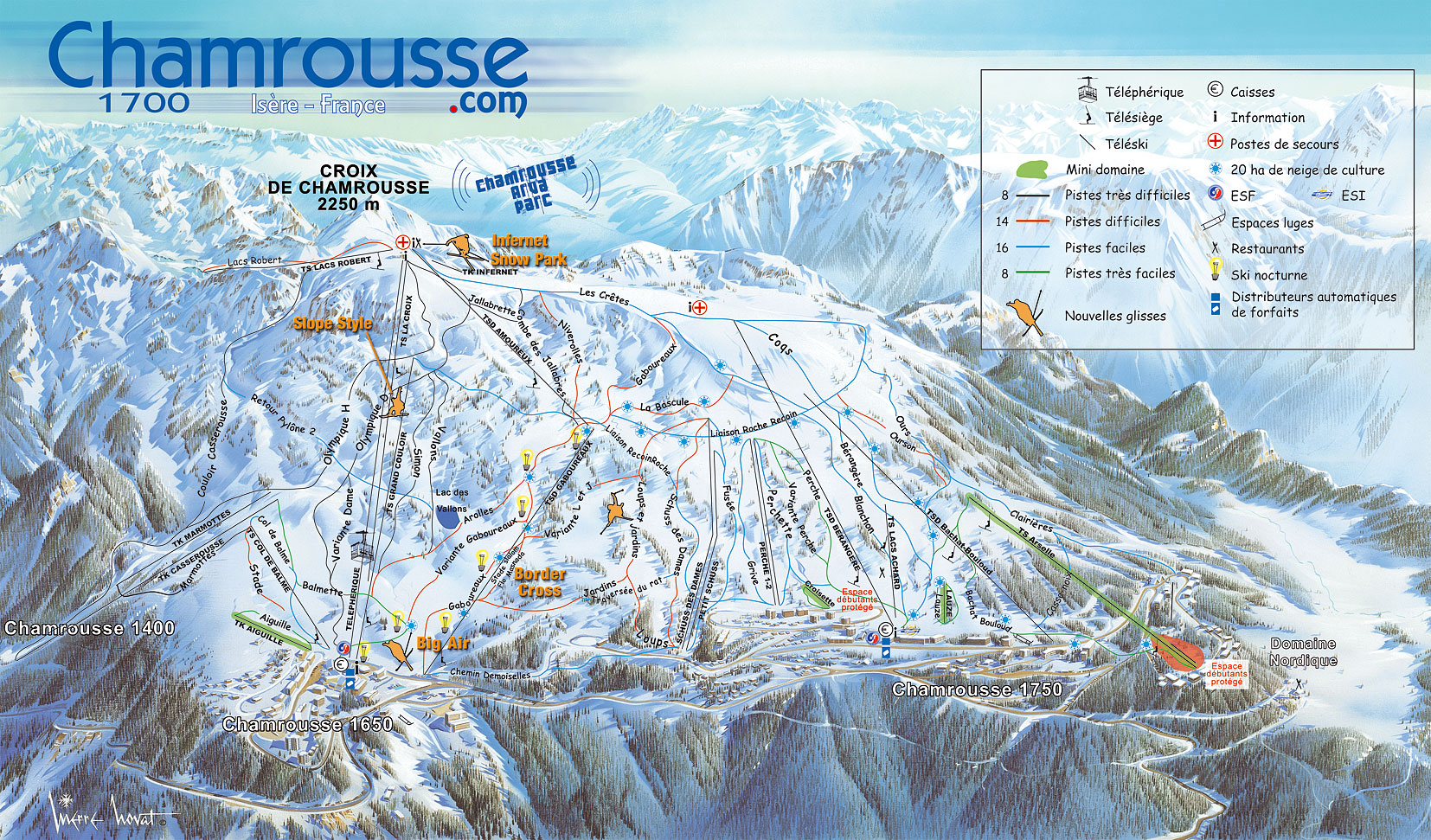 Skimap.org: Chamrousse Ski Map 2006