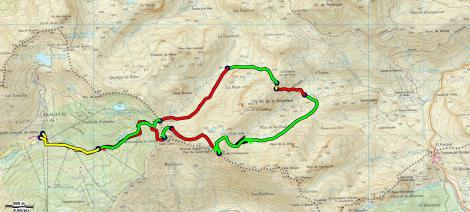 Mapa General desde Astún hasta el Portalet