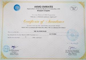 2011 Sharjah Endocrines and Skin Talk Dr Hanish Babu MD