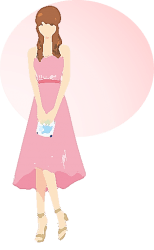 「ピンク」「オレンジ」アイシャドウは、結婚式や親族などが集まる特別なお祝いの席にピッタリ