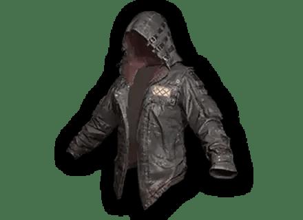 Skin Tracker PUBG Leather Hoodie Black