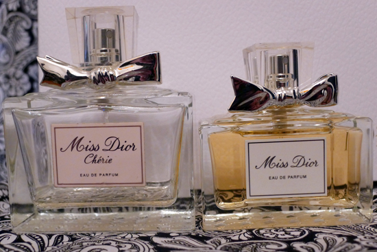 Miss Dior and Miss Dior Cherie Side by side