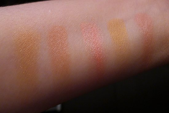 June 2013 Ipsy Glam Bag - NYX Mosaic Powder in Dare Swatches