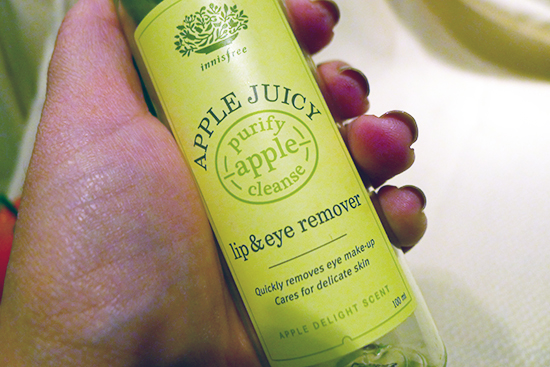 July 2013 Empties - Innisfree Apple Juicy Eye & Lip Remover