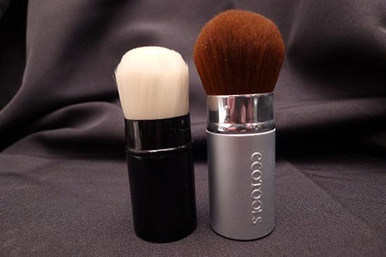 Chanel Les Beiges Retractable Kabuki Brush & EcoTools Retractable Kabuki Brush