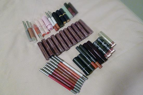 Lips - Urban Decay, Clinique, MAC, NARS, Kat Von D, Shiseido, BareMinerals, Sonia Kashuk, Burts Bess, A'Pieu, Etude House
