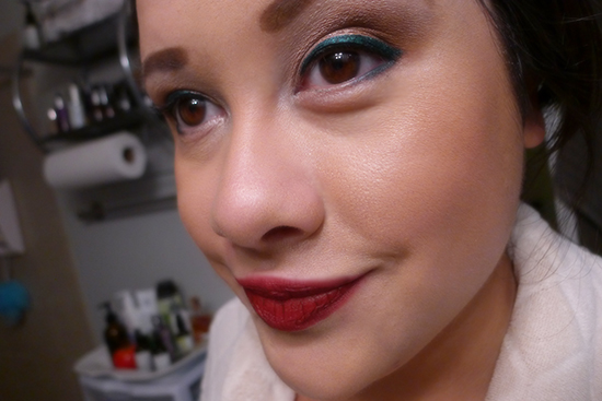 I'm wearing Urban Decay 24/7 Glide-On Eye Pencil in Mars for this look.