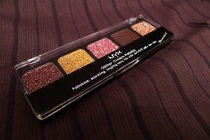 NYX Glitter Cream Palette Sweet Chocolate Browns
