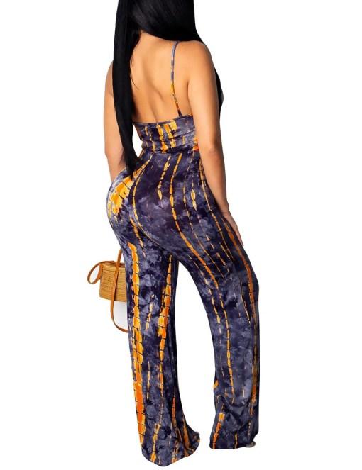 Comfortable Super Faddish Slender Strap Open Back Twist Jumpsuit