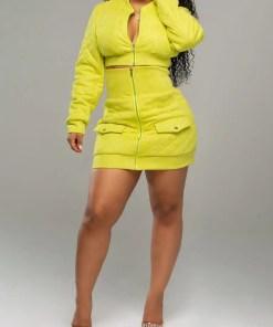 Chic Long Sleeve High Waist Women Suit Casual Wear
