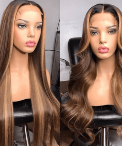 straight colored 5 x 5 Wig- 180% Density Wig