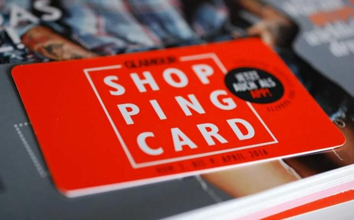 shopping card Glamour shopping week April 2016