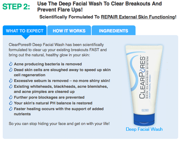 How Clearpores Work Step 2