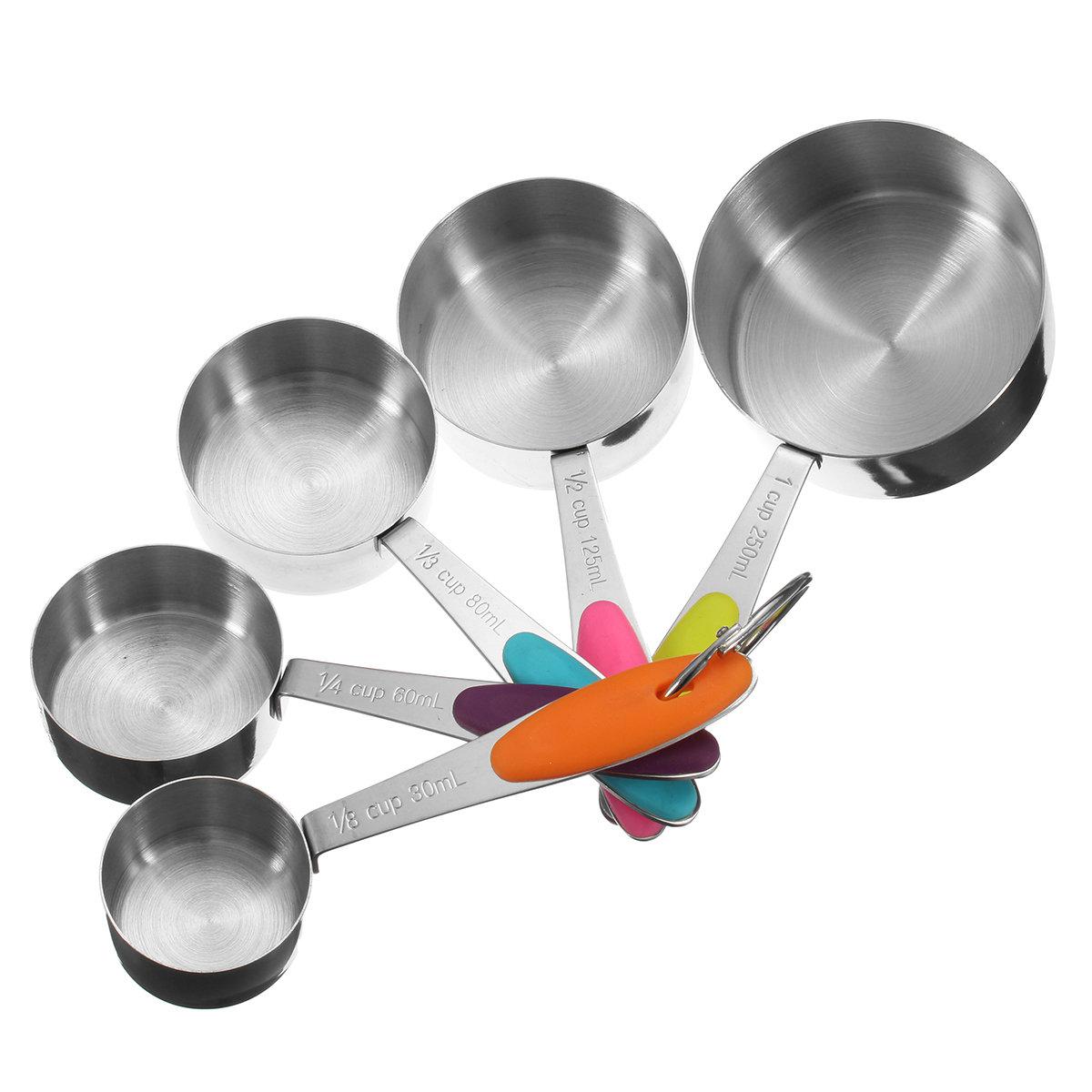 10pcs Stainless Steel Measuring Measure Spoons Baking