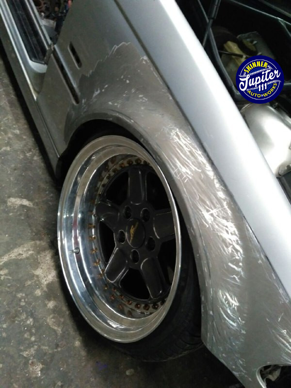 Bengkel body repair jogja - front fender set up