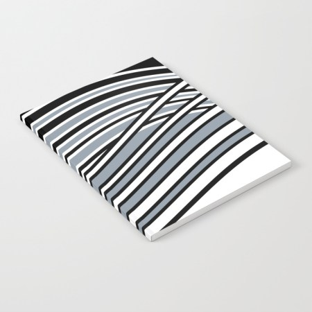 abstract wavy pattern notebook