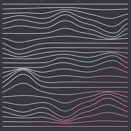 retro wave lines