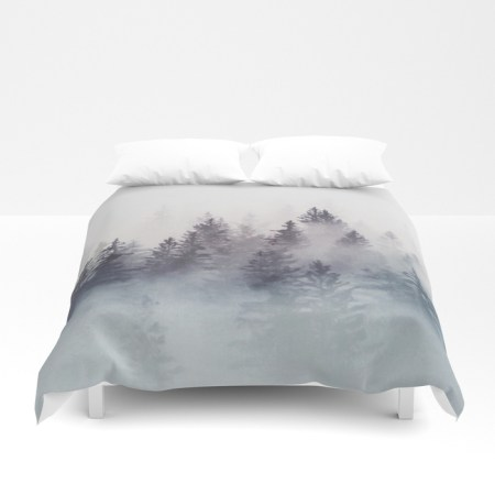 winter wonderland stormy weather duvet cover