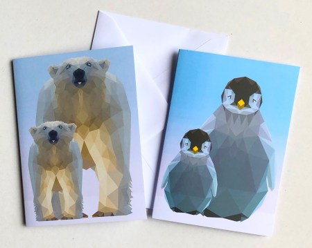 Penguin and Polar Bear Cards