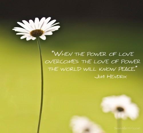 Power of Love Quote Jimi Hendrix