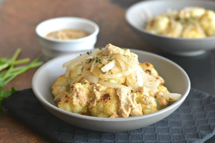 Caramelized Cauliflower With Tahini