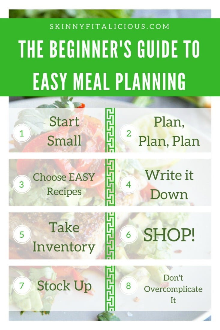 If making healthy changes to your diet is one of your goals and you're new to meal planning, then this Beginner's Guide To EASY Meal Planning is for you!