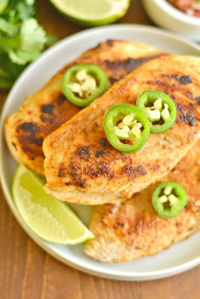 Mouthwatering Jalapeño Lime Chicken that's big on flavor and takes 15 minutes to make. A gluten free, low calorie meal, that's delicious and easy and guaranteed to spice up boring chicken!