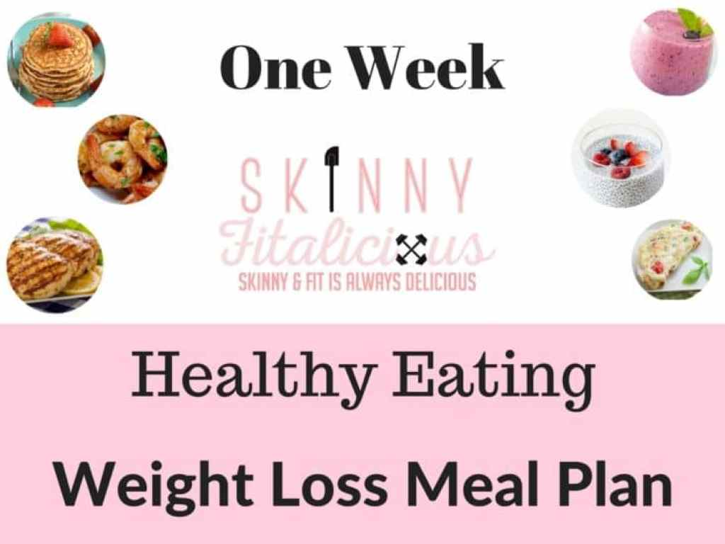 One Week Meal Plan Monthly Club