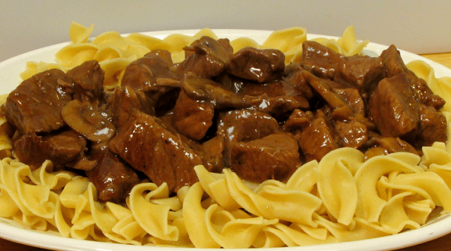 Slow-Cooker Beef Tips and Noodles
