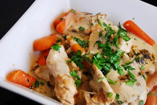 Creamy Crock Pot Tarragon Chicken Recipe