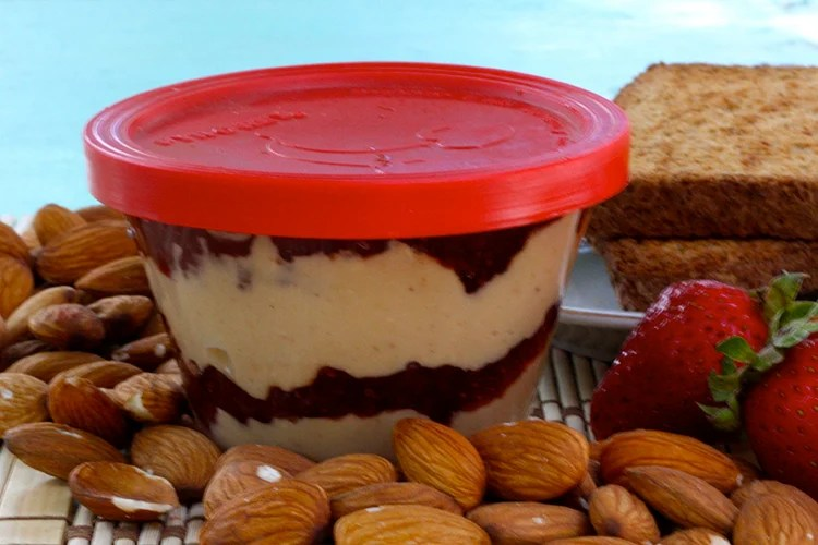 clean-eating almond butter and jelly