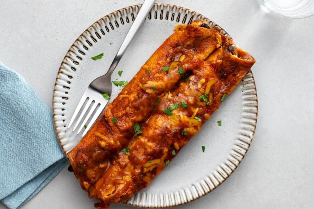 Our slow cooker vegetarian enchiladas will satisfy even the meat eaters in your family.