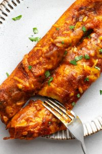 Immerse yourself in these delicious and vegetarian friendly enchiladas.