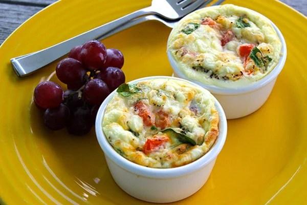 Individual Egg & Spinach Bowl