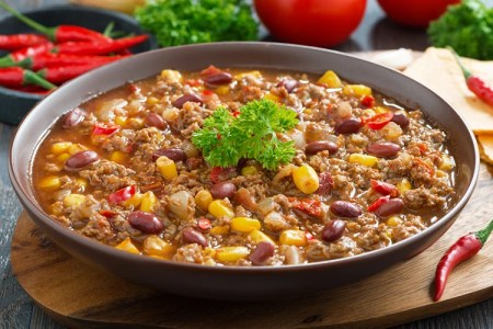 Slow Cooker Fiesta Chili Supper
