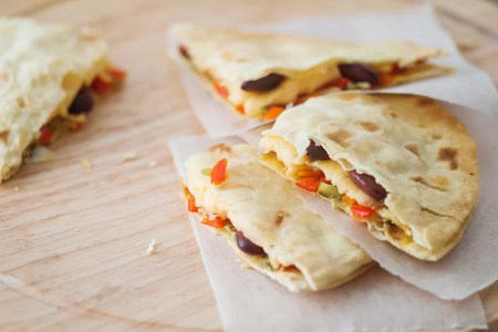 Oven Baked Vegetable Quesadillas