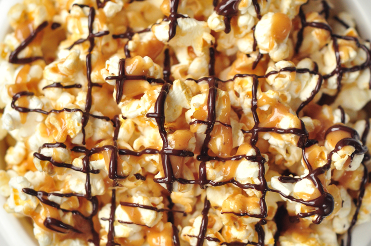 Our chocolate peanut butter popcorn offers the perfect combination of flavors!