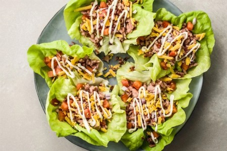 Low-Carb Turkey Club Lettuce Cups