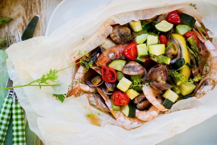 A seafood recipe full of fish, clams, shrimp and more!
