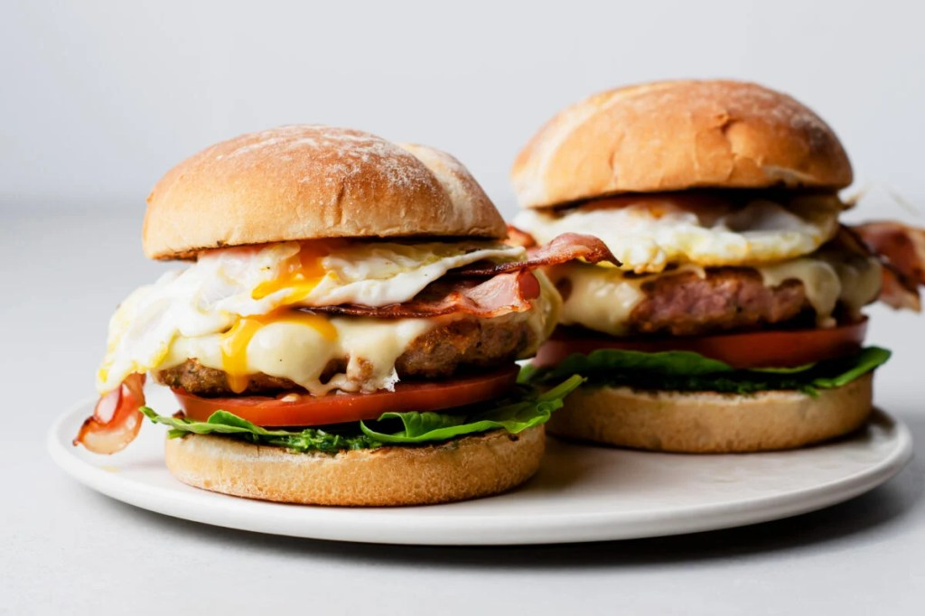 Tired of the same old breakfast? Try our juicy and aromatic turkey sausage brunch burgers!