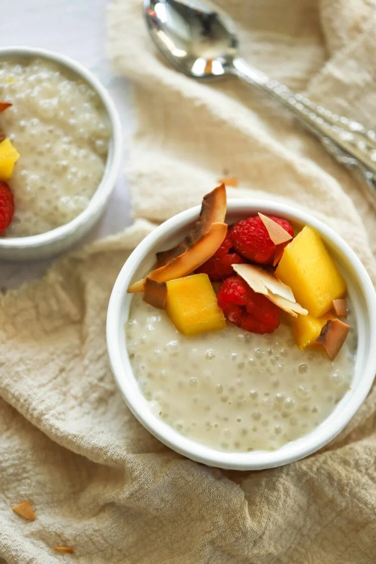 This coconut milk tapioca pudding is a clean dessert that you will love!