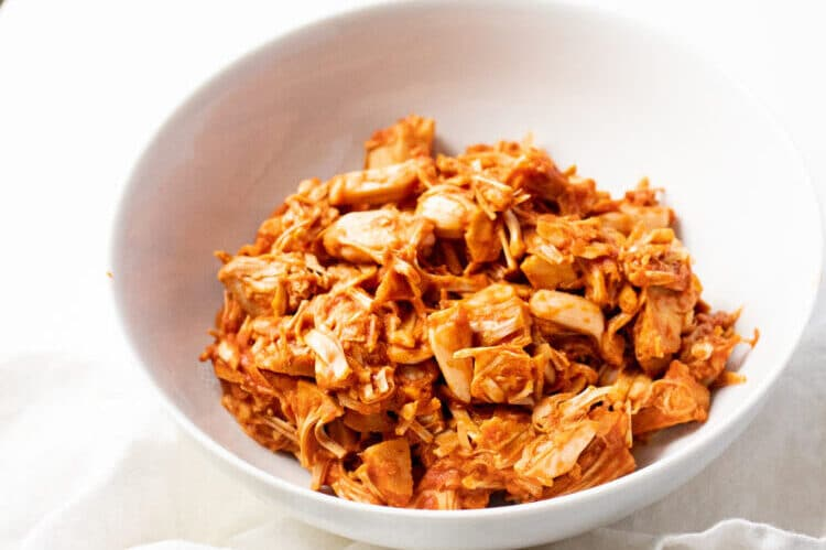 Enjoy this BBQ jackfruit in a bowl, on a bun, in tacos or more!