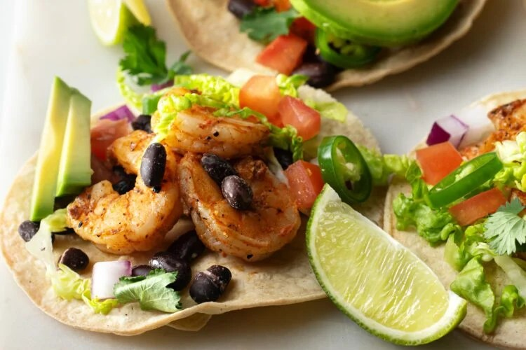 Our grilled shrimp tacos are packed with incredible flavors.