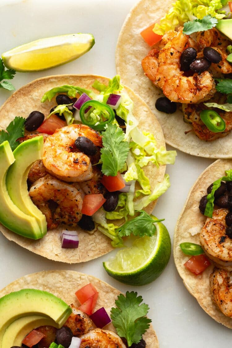 Bright colors and delicious flavors make these shrimp tacos the perfect spring or summer recipe!