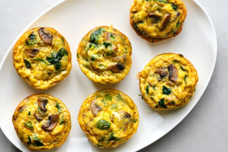 These protein-rich egg muffins will keep you full and focused for hours.