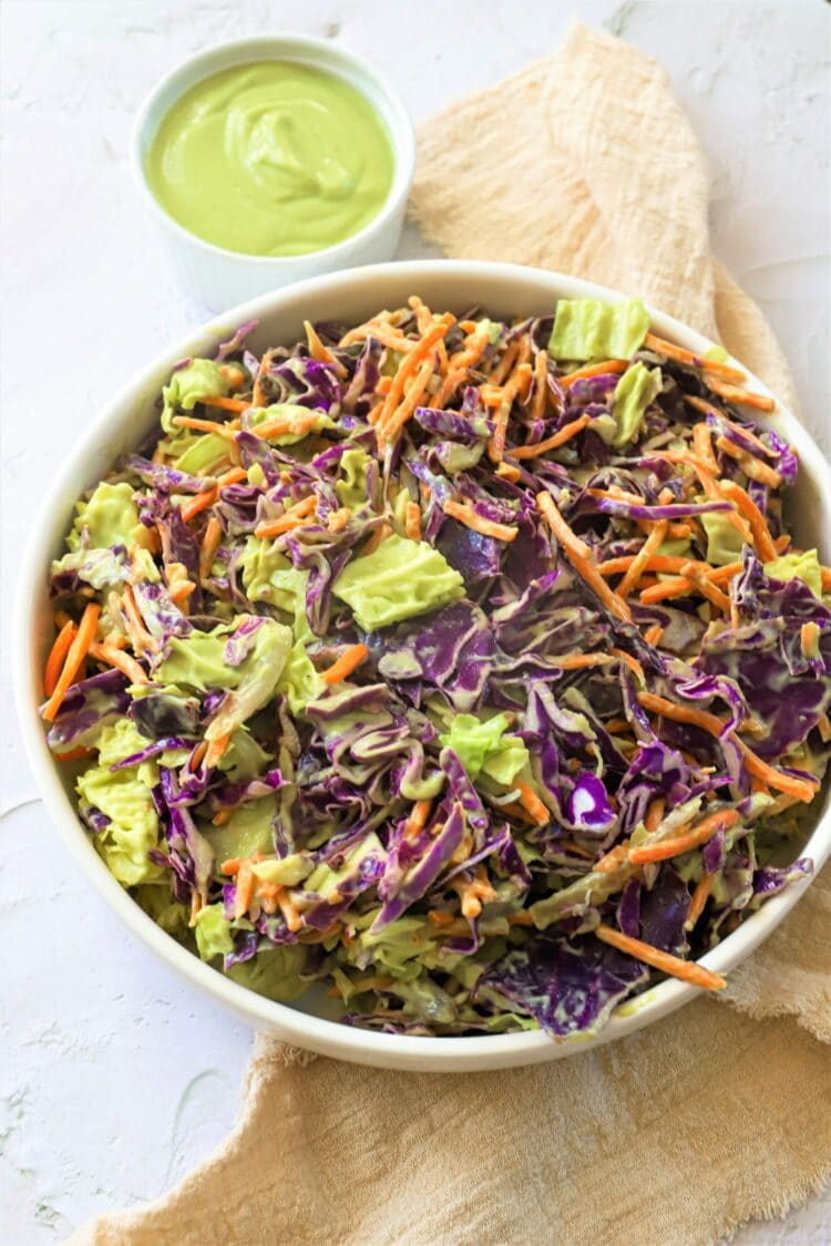 This fresh and crunchy recipe is great as a side to any barbecue or grilling meal!